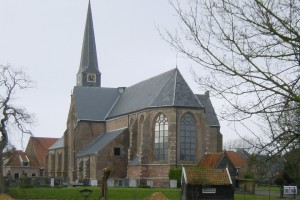 kerk in landschap